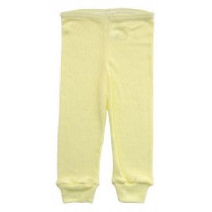 Calça Culote Canelada Avulsa -Amarelo