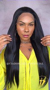 Lace Front Fibra Premium Gogo Girl GL 100 Preta
