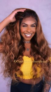 Peruca lace front cabelo humano ombre 9