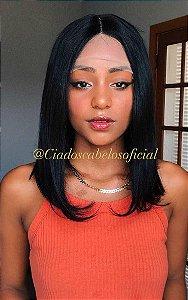 Peruca lace front cabelo humano Bob Angel 170
