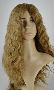 Peruca kosher cabelo humano customizada cacheada loira