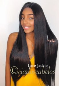 Peruca lace front wig Fibra futura premium Jackie 13x4