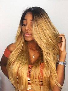 Peruca lace front wig Fibra futura premium Dominique loira