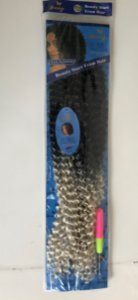 Pacote cabelo orgânico crochê braid com agulha