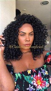 Peruca lace front fibra premium  afro Glam