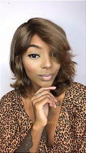 Peruca cabelo humano luxo brasileiro loiro escuro Joyce  302