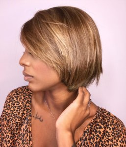 M Peruca luxo cabelo humano brasileiro Drica 308 luzes finas