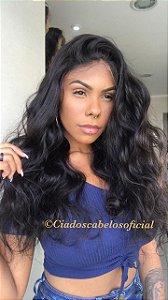 Peruca fake scalp 5x5 cabelo humano ondulado
