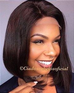 Peruca lace front cabelo humano 4x4 Livia