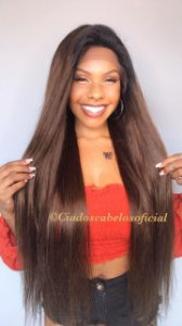 Peruca lace front cabelo humano ombre 1b4 cod 253
