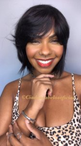 Peruca Chanel cabelo humano Belíssima preta