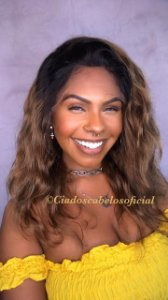 Lace front cabelo humano loiro ombre 011