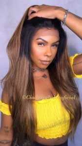 Peruca lace front cabelo humano ombre cod 08