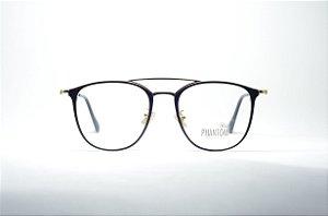 Óculos feminino ou masculino grande dourado preto fino retro metal redondo  moda 2019 phantom 7c62c9a93b