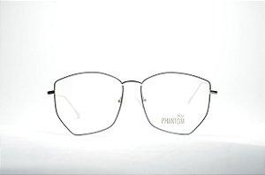 Óculos feminino ou masculino grande metal fino redondo prateado e preto  moda Phantom 2019 8e5d0518c6