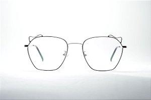 Armação para grau óculos feminino grande metal fino redondo gatinho  prateado e preto moda feminina 2019 7b07fbc8ae