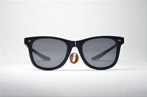 Óculos de sol masculino preto redondo lente espelhada proteção UV400 moda  masculina b00ca62b50