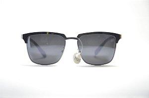 Óculos de sol masculino quadrado metal lente espelhada proteção UV400 moda  masculina Phantom 08d17fac83