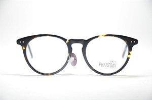 023cef7ff5b9e Armação para grau óculos masculino ou feminino redondo preto manchinha TR  resistente moda Phantom 2019