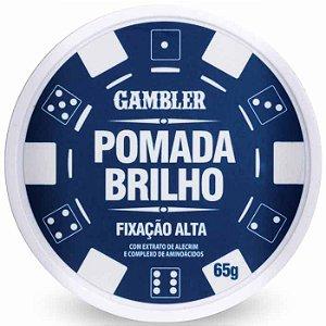 Pomada Efeito Brilho Alta Fixação 65g Gambler