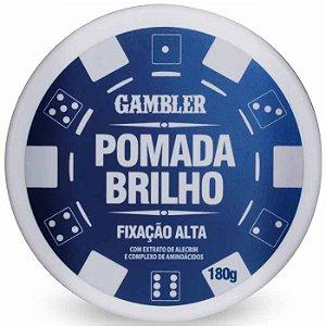 Pomada Efeito Brilho Alta Fixação 180g Gambler