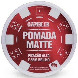 Pomada Efeito Matte Alta Fixação 65g Gambler