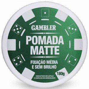 Pomada Efeito Matte Média Fixação 180g Gambler