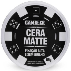 Cera Matte Alta Fixação 65g Gambler