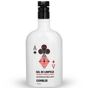 Álcool em Gel 70% Gambler | Gel de Limpeza Antisséptica (1x480g)