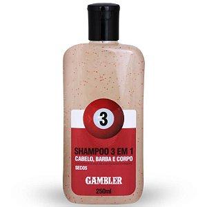 Shampoo 3 Em 1 Bola 3 Cabelos Secos 250ml Gambler
