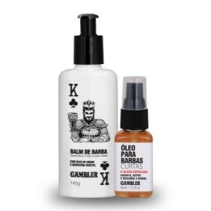 Kit Especial Balm de Barba 140g + Óleo para Barbas Curtas 30ml