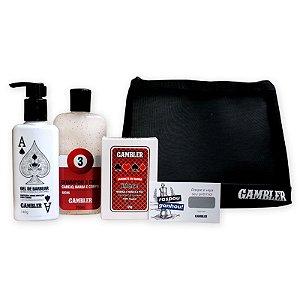 Kit Shampoo Bola 3, Gel de Barbear, Sabonete Intense + Necessaire