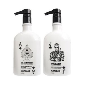 Kit Pro Gel de Barbear + Pós Barba Gambler (2x500ml)