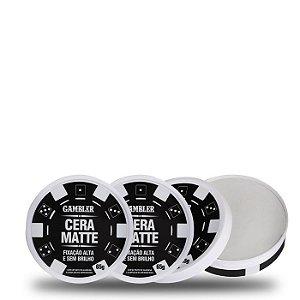 3 Ceras Matte Alta Fixação (3x65g) | Gambler