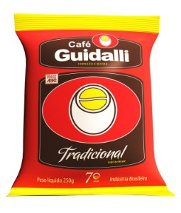 Café Guidalli Tradicional 250g. Preço para pedido de 5 kgs.