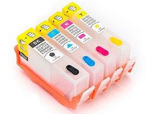 Cartuchos Recarregáveis 564 | 670 para Uso em Deskjet Ink Advantage 4615, 4625, 5525 da HP