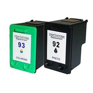 Cartucho Microjet Compatível com Deskjet 5440, D4100, D4160, C3100, C3180, 92XL, 93XL da HP