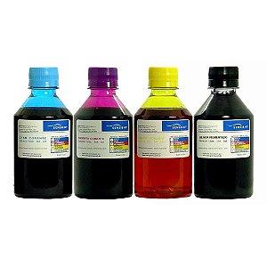 Refil de Tinta Sensient Impressora G-1100 G-2100 G-3100 G-3102 G-4100 - Kit com as 4 Cores