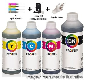 Kit Tintas Profeel (Inktec) Compatível com Cartuchos 122 662 664 667 da HP