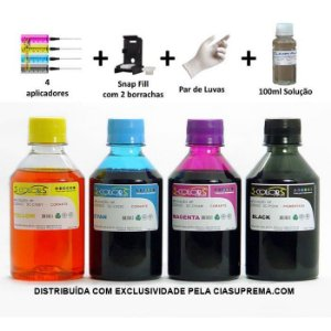 Kit Tinta Seven Colors Recarga Cartuchos 60 | 61 | 121 | 122 | 662 | 664 | 675 da HP
