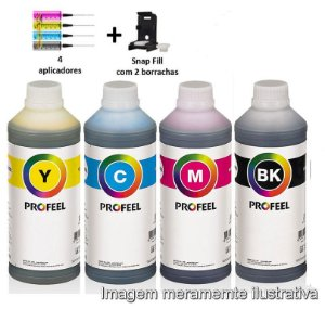 Kit Tintas Profeel Cartuchos Canon TS-3110, MG-2410, MG-2510, MG-2910 - 400ml