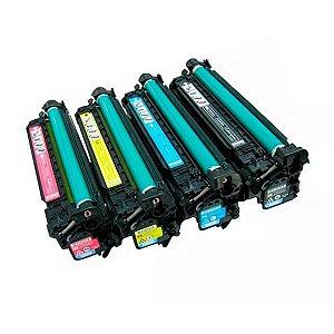 Toner Compatível com Impressoras CM3530 CP3525 M575 M570 M551 da HP