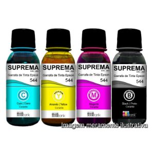Tinta para Uso em Impressoras L-3110 L-3150 T544 da Epson - Suprema Corante