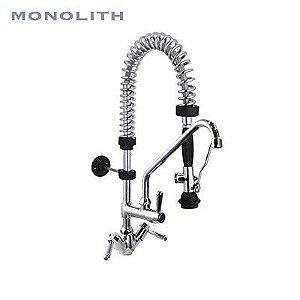 Mini Esguicho de Pré-Lavagem de Bancada com Misturador e Torneira Extra - R0101020192 -  Torneira Industrial Monolith