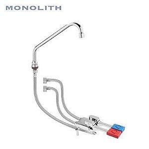 Torneira de Pedal com Misturador  - Ermes003Kit - Torneira Industrial Monolith