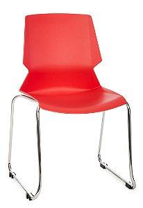 Cadeira Fixa Concha em Polipropileno