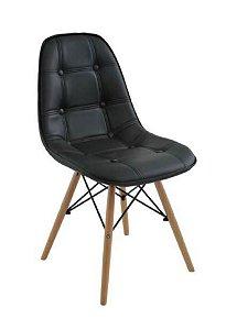 Cadeira Botonê Estofada Preta