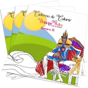 Caderno de Colorir do Príncipe Pedro e o Reino da Perfeição