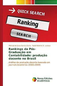 Rankings da Pós-Graduação em Contabilidade: produção docente no Brasil