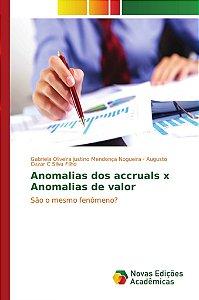 Anomalias dos accruals x Anomalias de valor